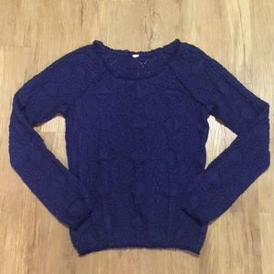 Free People Purple Lace Top